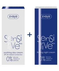 Ziaja sensitive skin - set for face 1+1 free
