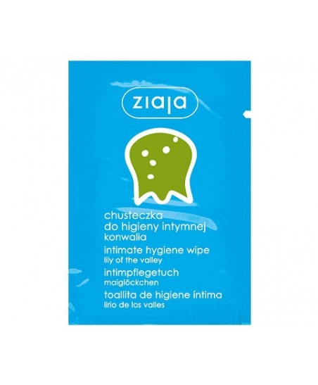 ZIAJA INTIMATE HYGIENE WIPE LILY OF THE VALLEY